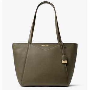 Michael Kors Whitney Large Olive Leather Tote